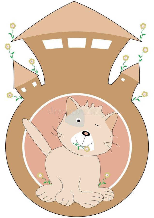дом eps кота иллюстрация вектора