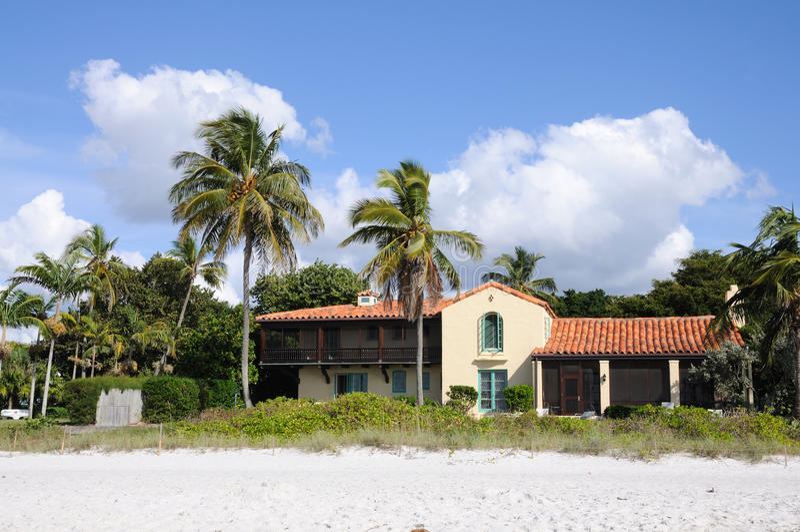 дом florida пляжа стоковое фото rf