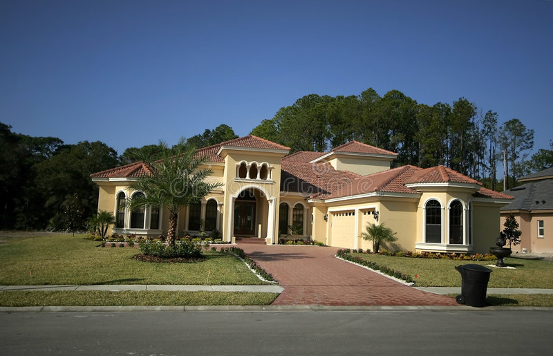 дом florida стоковое изображение rf