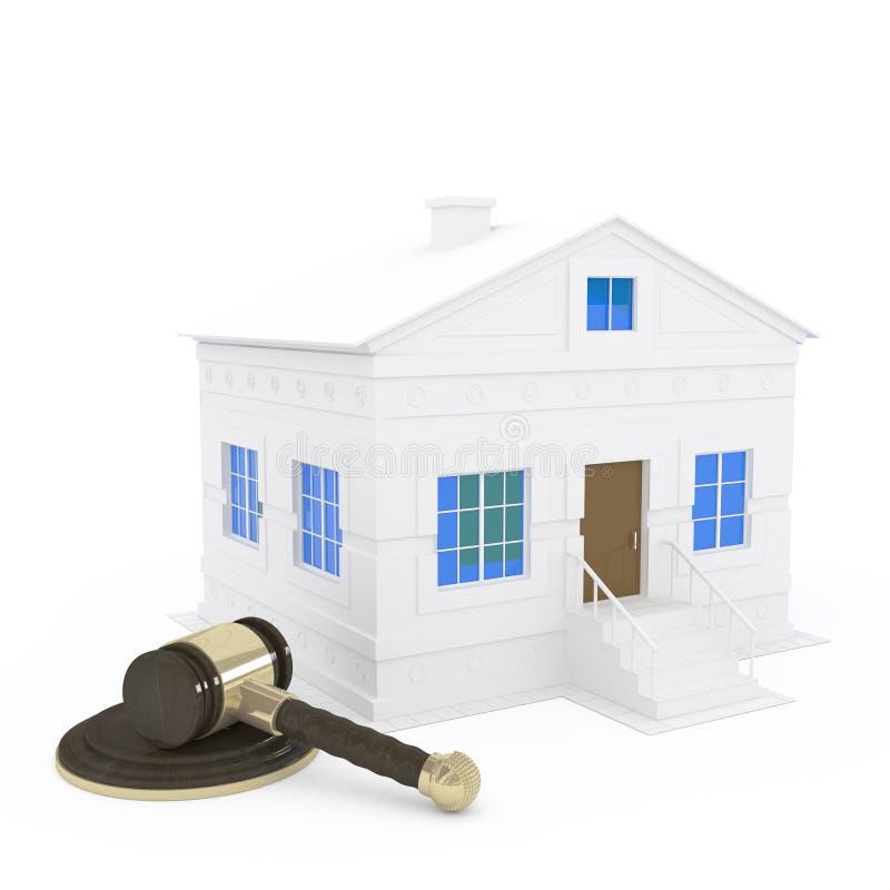 дом gavel бесплатная иллюстрация