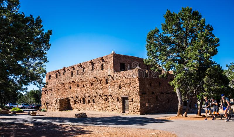 Дом Hopi Туристические достопримечательности деревни гранд-каньона и национальный парк гранд-каньона, Аризона стоковая фотография