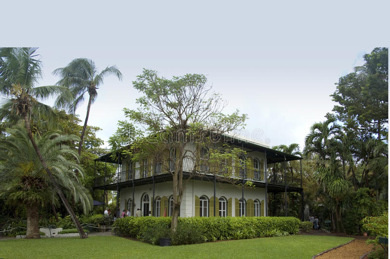Дом Key West Hemingway стоковое фото rf