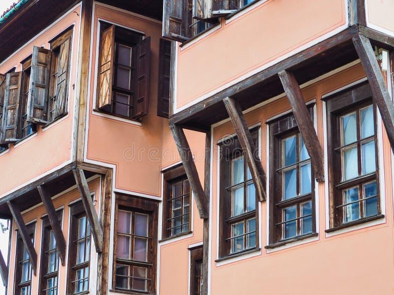 Дом Lamartin, городок Пловдива старый, Болгария стоковые изображения
