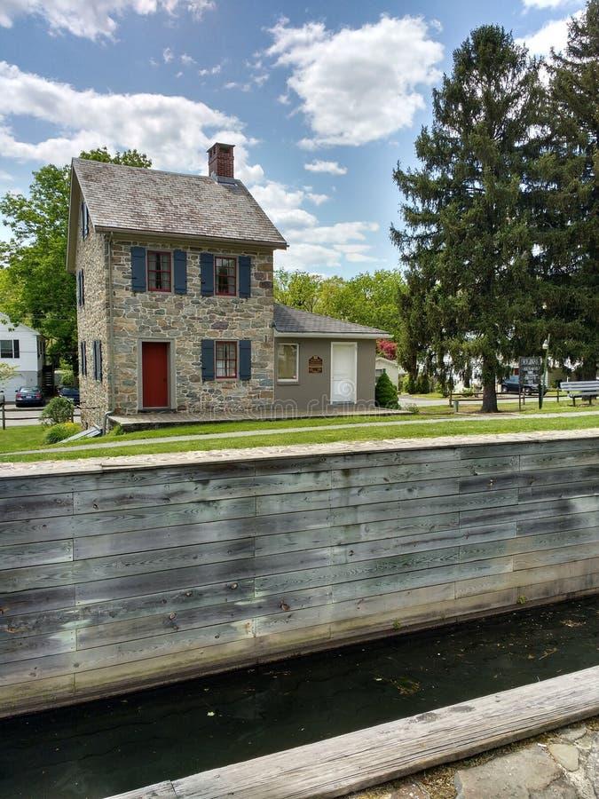 Дом Locktender на замке #23, Walnutport, Пенсильвании, США стоковая фотография rf