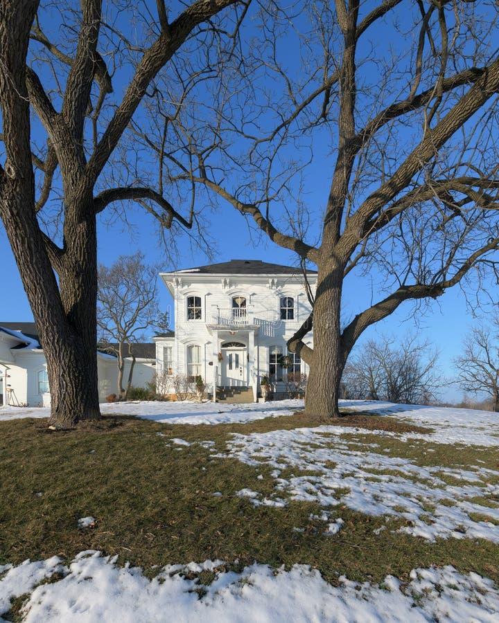 Дом McCord в пригородах Чикаго стоковое изображение