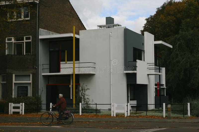 Дом Rietveld в Utrecht стоковое изображение