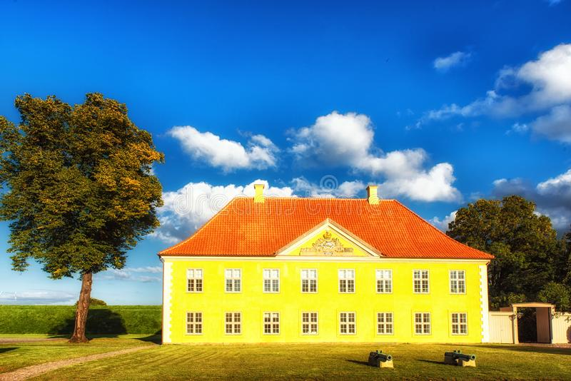 Дом ` s командира в Kastellet, Копенгагене стоковые фотографии rf