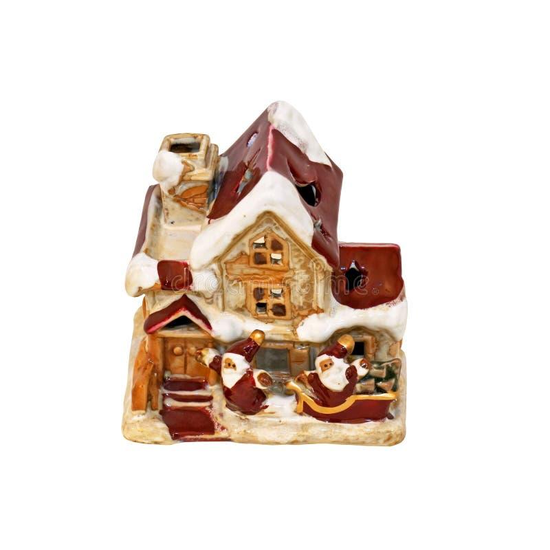 дом santa стоковое изображение rf