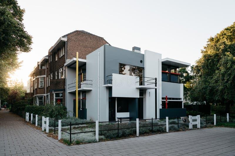 Дом Schroder Gerrit Rietveld в Utrecht, Нидерландах стоковые изображения rf