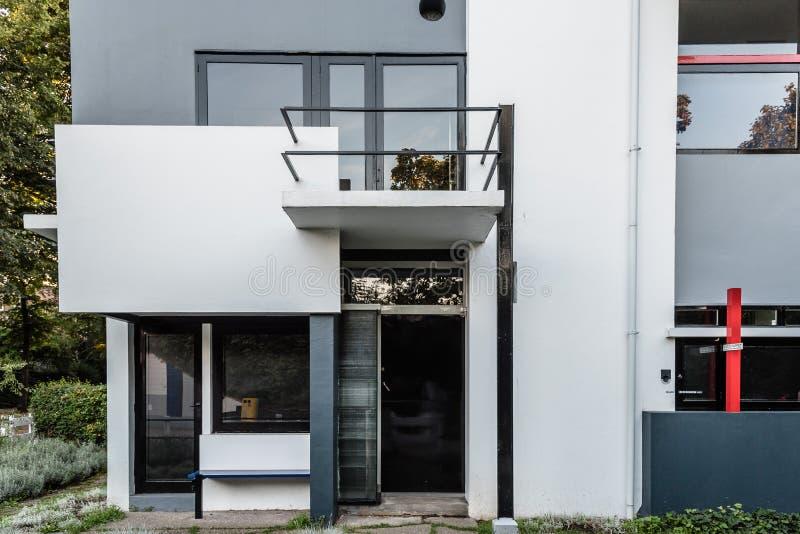 Дом Schroder Gerrit Rietveld в Utrecht, Нидерландах стоковое фото