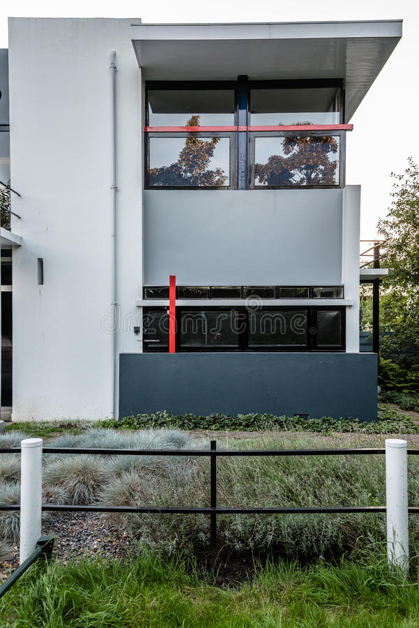 Дом Schroder Gerrit Rietveld в Utrecht, Нидерландах стоковое изображение rf