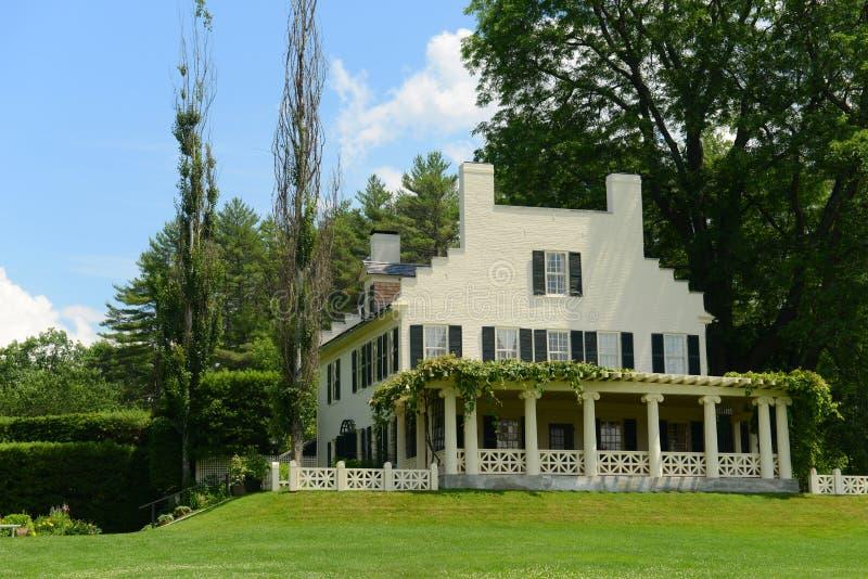 Дом St Gaudens, корнуоллский язык, Нью-Гэмпшир стоковые фотографии rf
