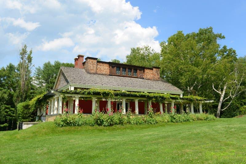 Дом St Gaudens, корнуоллский язык, Нью-Гэмпшир стоковые изображения