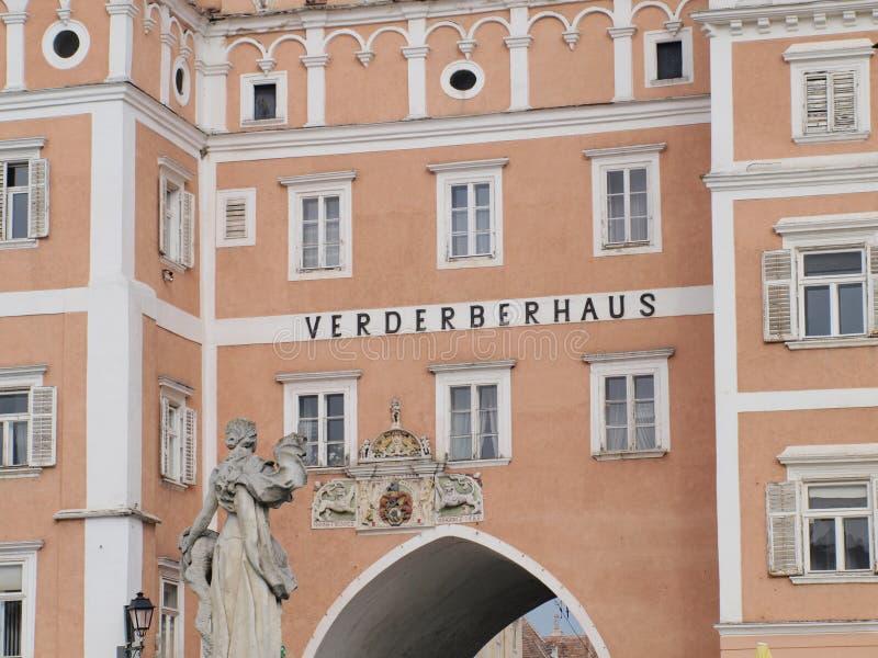 Дом Verderber ренессанса, город Retz стоковая фотография rf