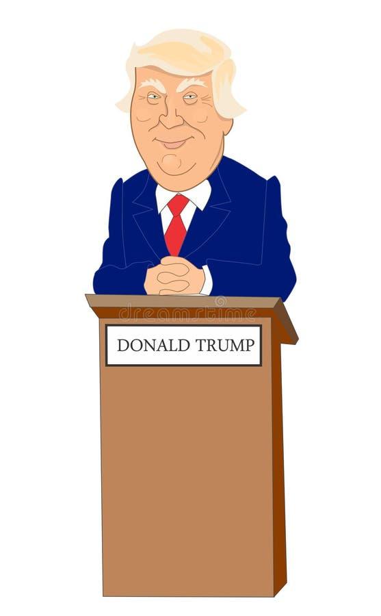 Доналд Трумп иллюстрация штока