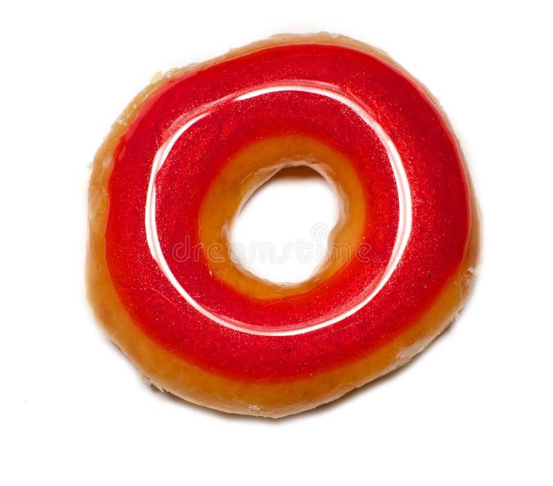 Донут красного цвета застекленный стоковая фотография rf