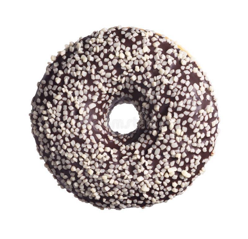 Донут шоколада круглый стоковое изображение rf