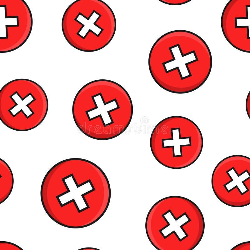 """Дон \ """"ts подписывают предпосылку картины значка безшовную Не похож на иллюстрацию вектора на черной круглой предпосылке с длинно бесплатная иллюстрация"""