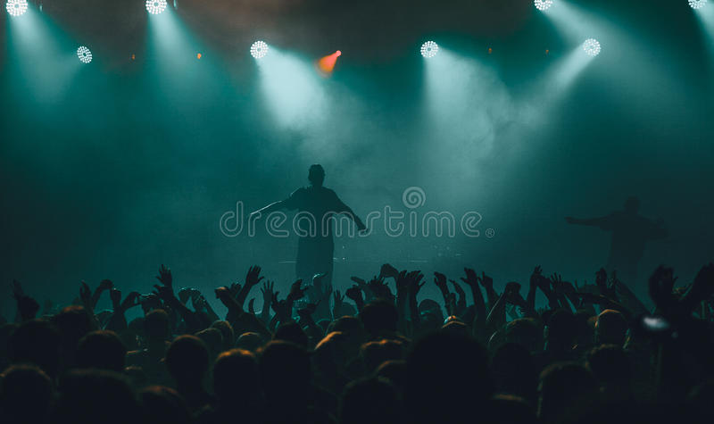 Допинг d O Концерт d в Москве стоковые фотографии rf