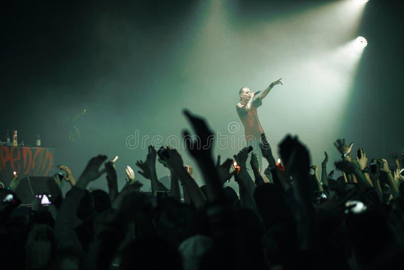 Допинг d O Концерт d в Москве стоковая фотография
