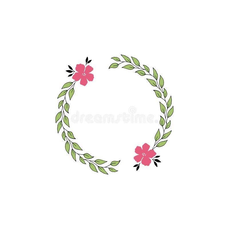 дополнительная editable рамка формы eps флористическая включила вектор иллюстрация штока