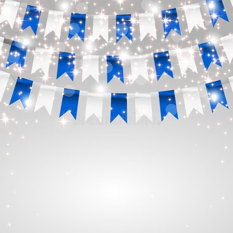 дополнительный праздник формата карты Делать флаги в цветах бесплатная иллюстрация