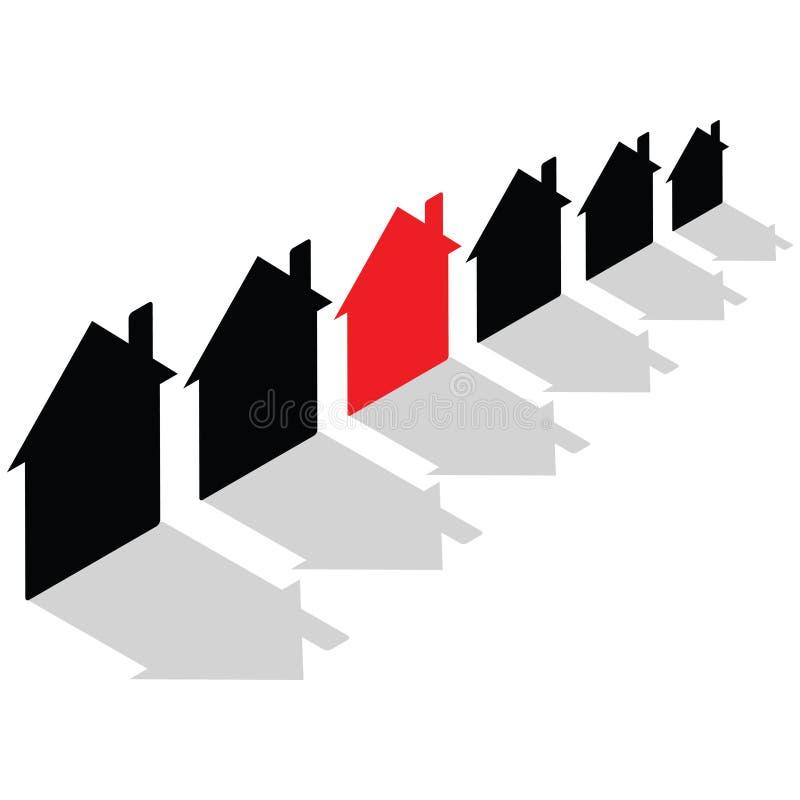 допустимое снабжение жилищем иллюстрация вектора