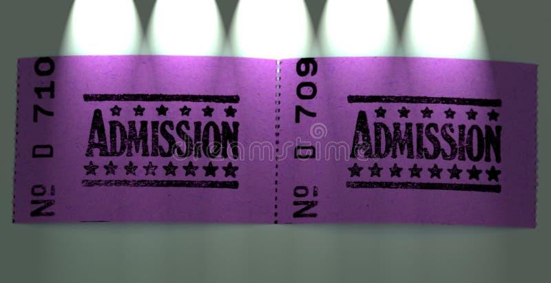 допущение снабжает 2 билетами стоковое фото