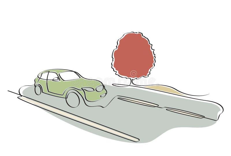 дорога автомобиля иллюстрация штока