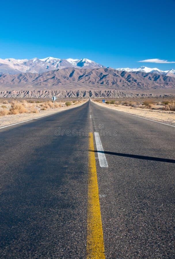 дорога Аргентины длинняя северная прямая стоковое фото