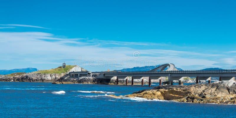Дорога Атлантического океана в Норвегии стоковая фотография