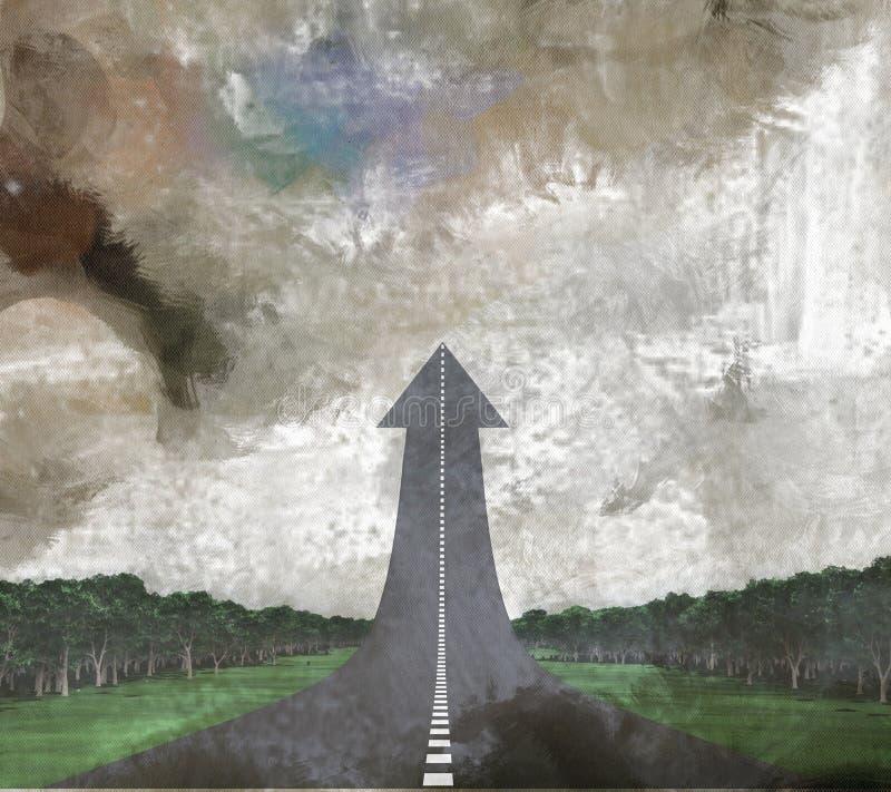 Дорога вверх бесплатная иллюстрация