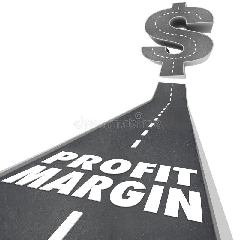 Дорога величины прибыли идя вверх увеличить чистый доход бесплатная иллюстрация