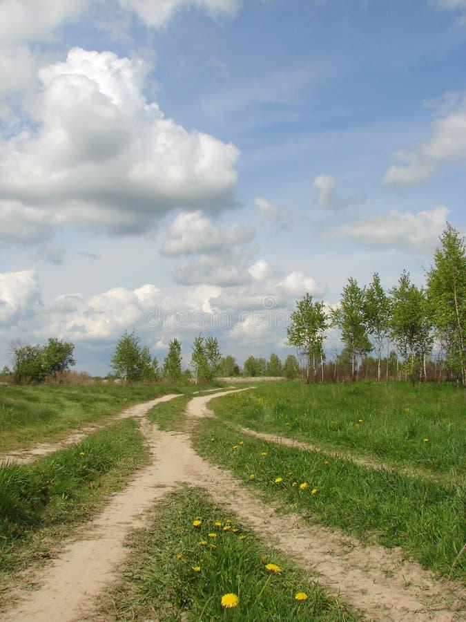 дорога вилки страны стоковые фото