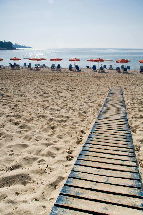 Дорога водя к пляжу стоковое изображение rf