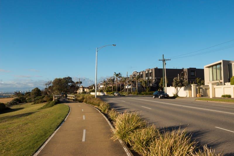 Дорога в Брайтоне, Виктория, Австралии стоковые изображения rf