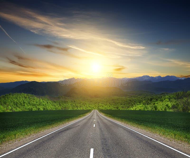 Дорога в горе. стоковые изображения rf