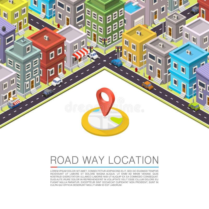 Дорога в городе равновеликом бесплатная иллюстрация