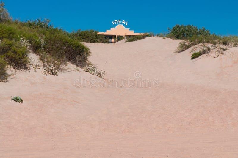 Дорога в песке стоковое изображение rf
