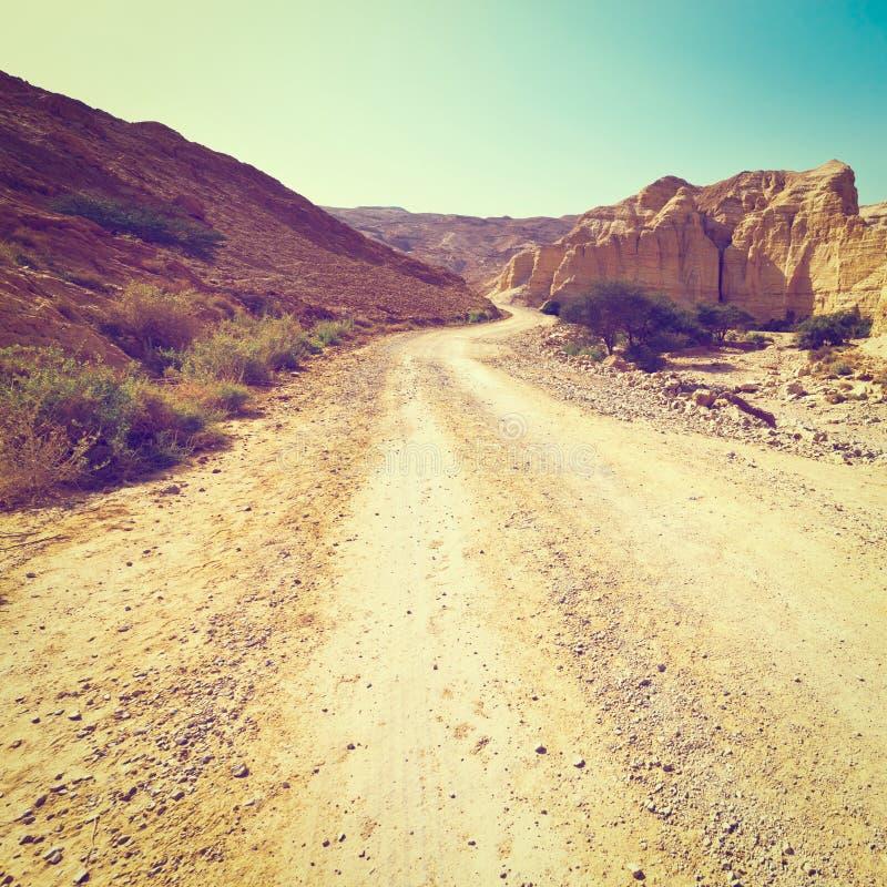 Download Дорога в пустыне стоковое изображение. изображение насчитывающей riverbed - 41654541