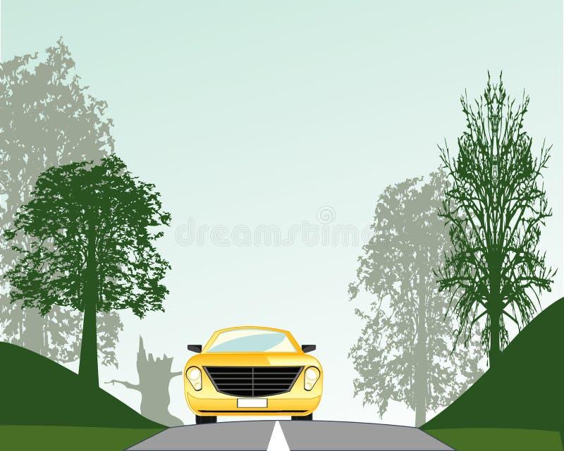 Дорога в древесине иллюстрация штока