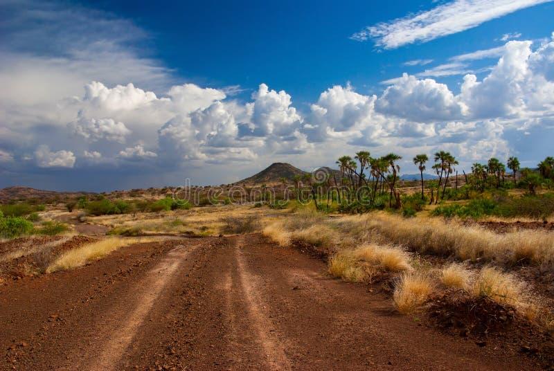 Download Дорога в саванне стоковое фото. изображение насчитывающей кения - 37925324