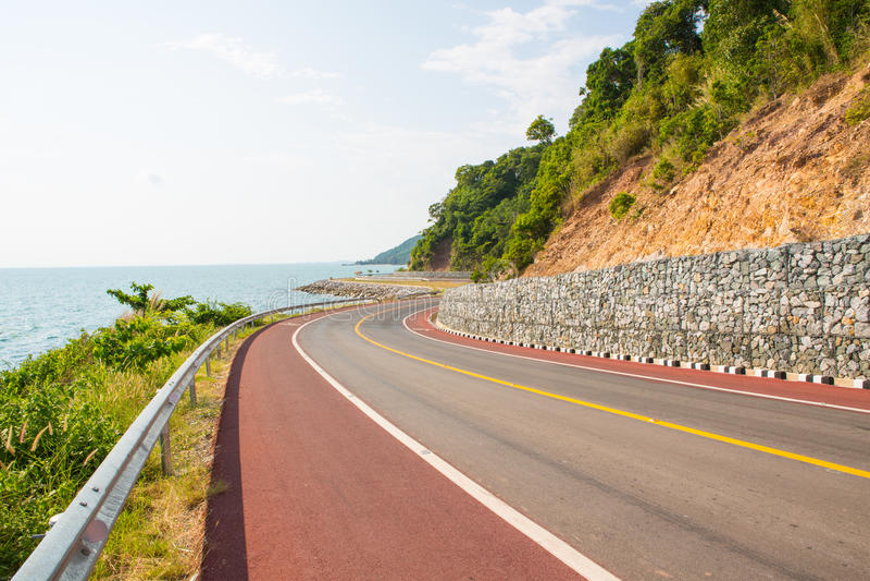 Дорога в chantaburi, Таиланде стоковое изображение rf