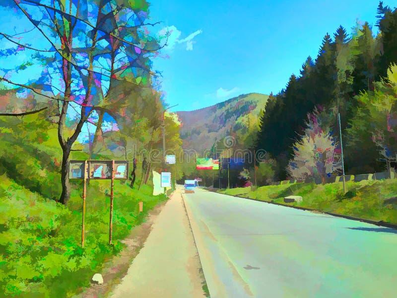 Дорога в Yaremche бесплатная иллюстрация