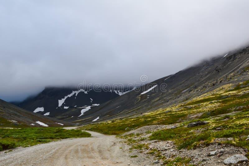 Дорога горы в Hibiny стоковые изображения