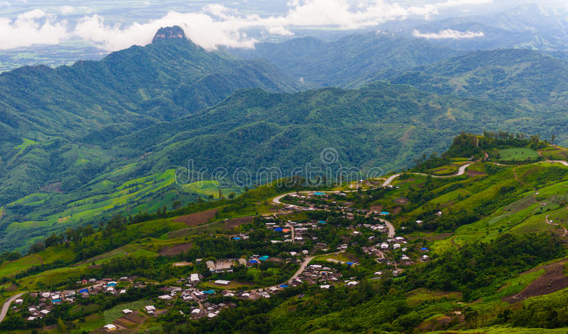 Дорога горы на (tubberk phu) в равенстве соотечественника Phu Hin Rong Kla стоковое изображение
