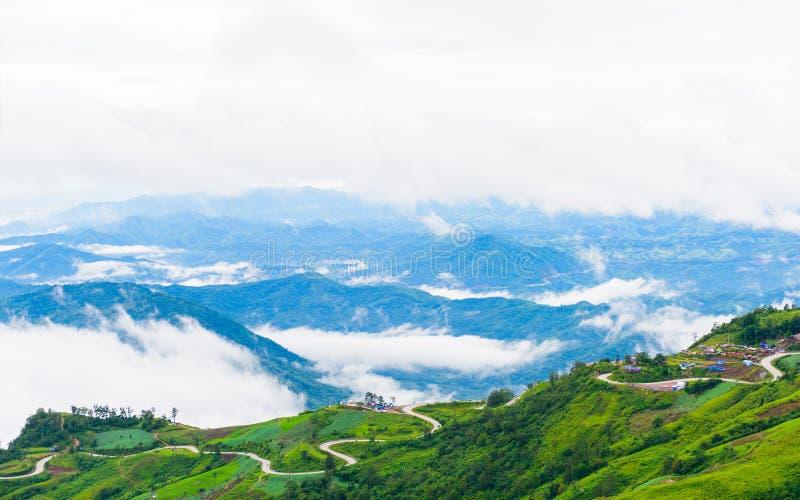 Дорога горы на (tubberk phu) в равенстве соотечественника Phu Hin Rong Kla стоковые фотографии rf