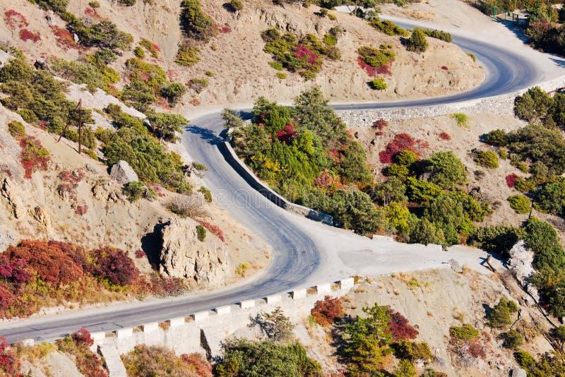 дорога горы осени стоковая фотография