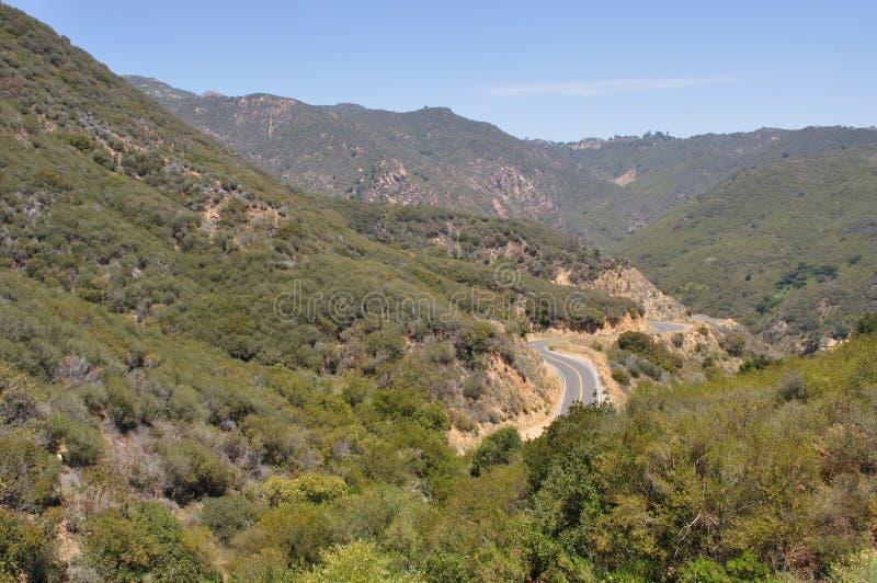 дорога горы malibu стоковая фотография rf