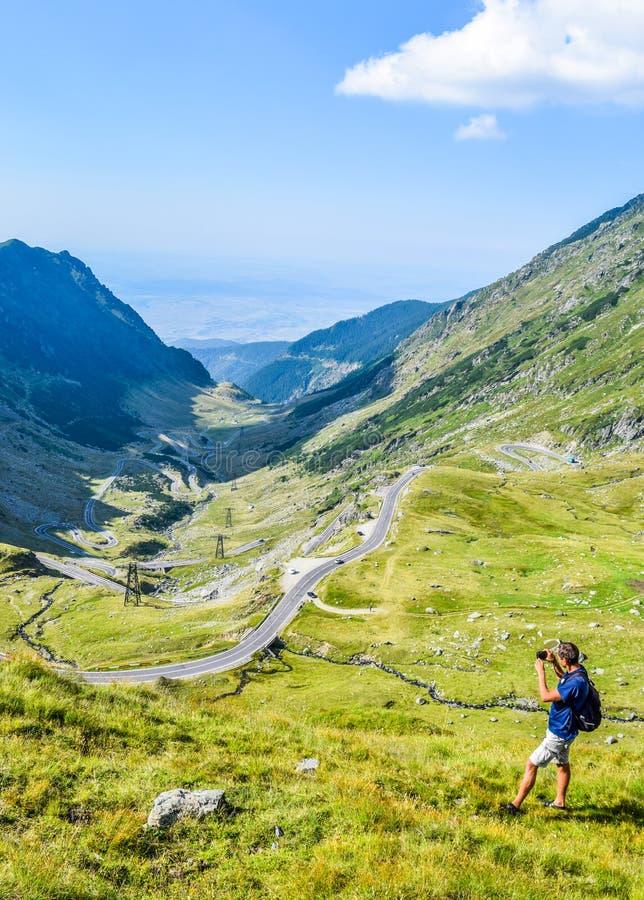 Дорога горы Transfagarasan стоковая фотография
